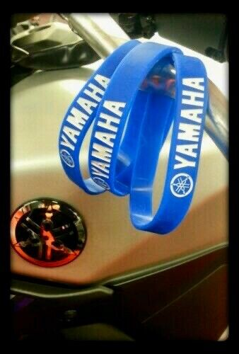 Yamaha Racing Silicone Wristband Bracelet Blue Armband bLU cRU GYTR MotoGP MX