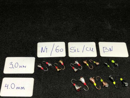 5 NEW #64-EREBUS eyelet Tungsten Ice Jig Diam:3.0-6.0 mm//Weight:0.38-2.67g