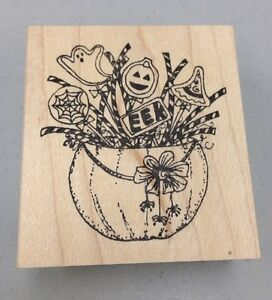Lockhart Stamp Company Rubber Stamps Halloween Cookies Ebay