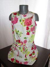 H&M HENNES & MAURITZ Girls Vtg 90s Rare Floral Cotton Dress Collectors Only AC97