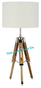 Marine-Nautical-Tripod-TABLE-Lamp-Nautical-Vintage-Teak-Table-Lamp