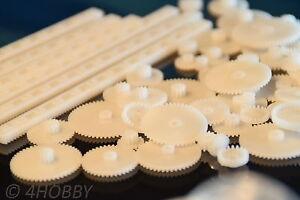 Radient 67-teiliges Zahnrad-zahnstangen-set Kunststoff Viele Größen Zahnräder Modellbau Bestellungen Sind Willkommen. Zahnstangen