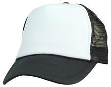 Trucker Hat Baseball Cap Mesh Retro Caps Blank Plain Hats (39 Color Choices)