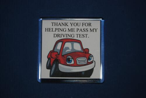 Instructeur de conduite vous remercier Cadeau-réussi votre test-Fun Cadeau-test de conduite