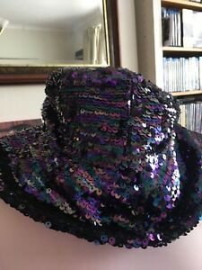 7dec44fe399bd Image is loading Topshop-Beautiful-Wide-Brimmed-Sequinned-Hat