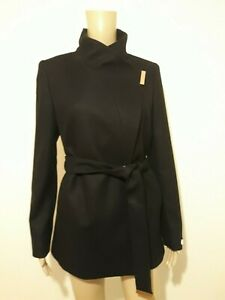 available running shoes low priced TED BAKER KEYLA BLACK WOOL CASHMERE SHORT WRAP COAT UK 6 TED 0 USA ...