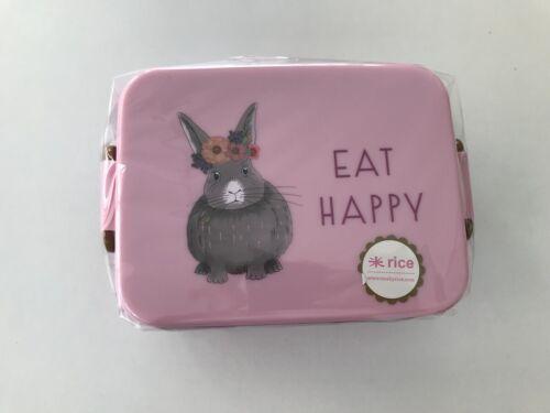rice Lunchbox KANINCHEN pink mit Trenner
