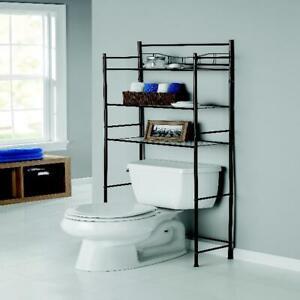 Over The Toilet Bathroom Organizer 3 Shelf Space Saver Metal Towel Storage Rack