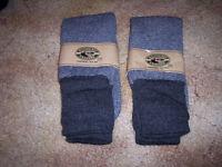 2 Sets Socks Thermal Socks Hudson Bay Socks Dress Socks Gray Socks Hunting Socks