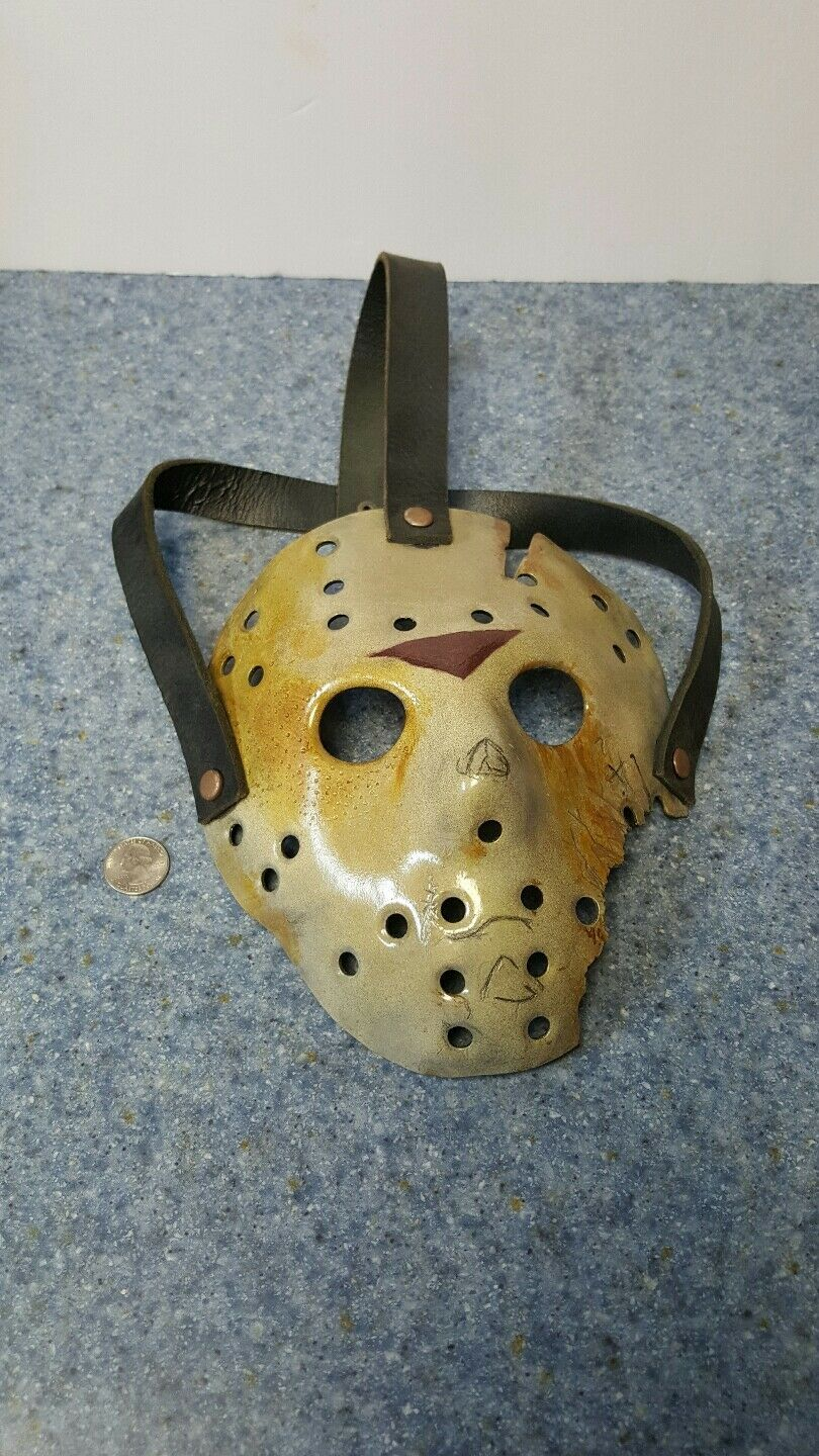 Friday The 13th parte 7 Correas precisa película MásCochea de Hockey hecha de Jdf en blancoo