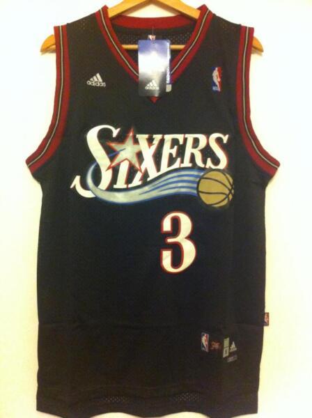 Affidabile Canotta Nba Basket Jersey Allen Iverson Maglia Philadelphia 76ers S/m/l/xl/xxl Possedere Sapori Cinesi