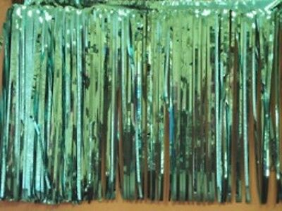 """Metallic green Fringed Garland Valance Party decoration 10 ft long x 15/"""""""