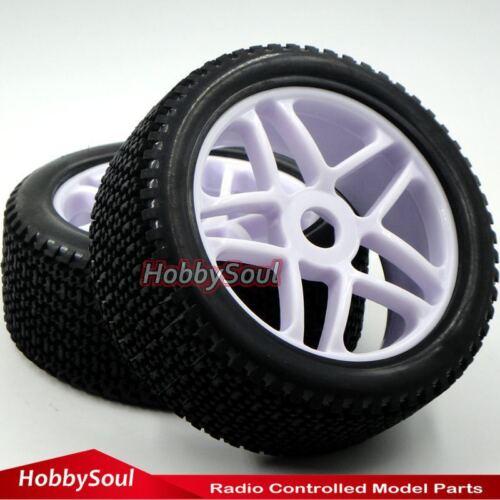 4 Stück 1//8 RC Off-road Buggy Reifen Tires Tyres /& Hex 17mm Wheels Felgen Rims