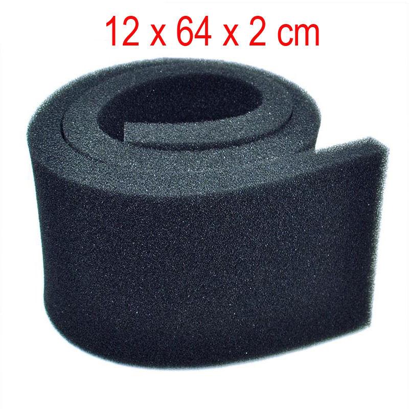 autentico ESPUMA FILTRANTE 12x64x2cm    FOAMEX nero, para Filtro Acuario ,gambario,etc.  più economico