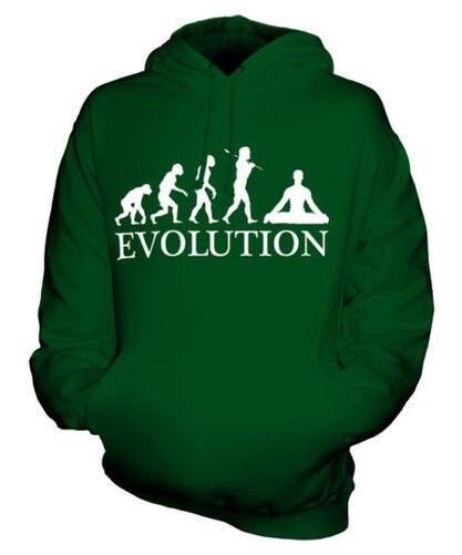 YOGA EVOLUTION OF MAN UNISEX HOODIE MENS WOMENS LADIES GIFT PILATES CLOTHING