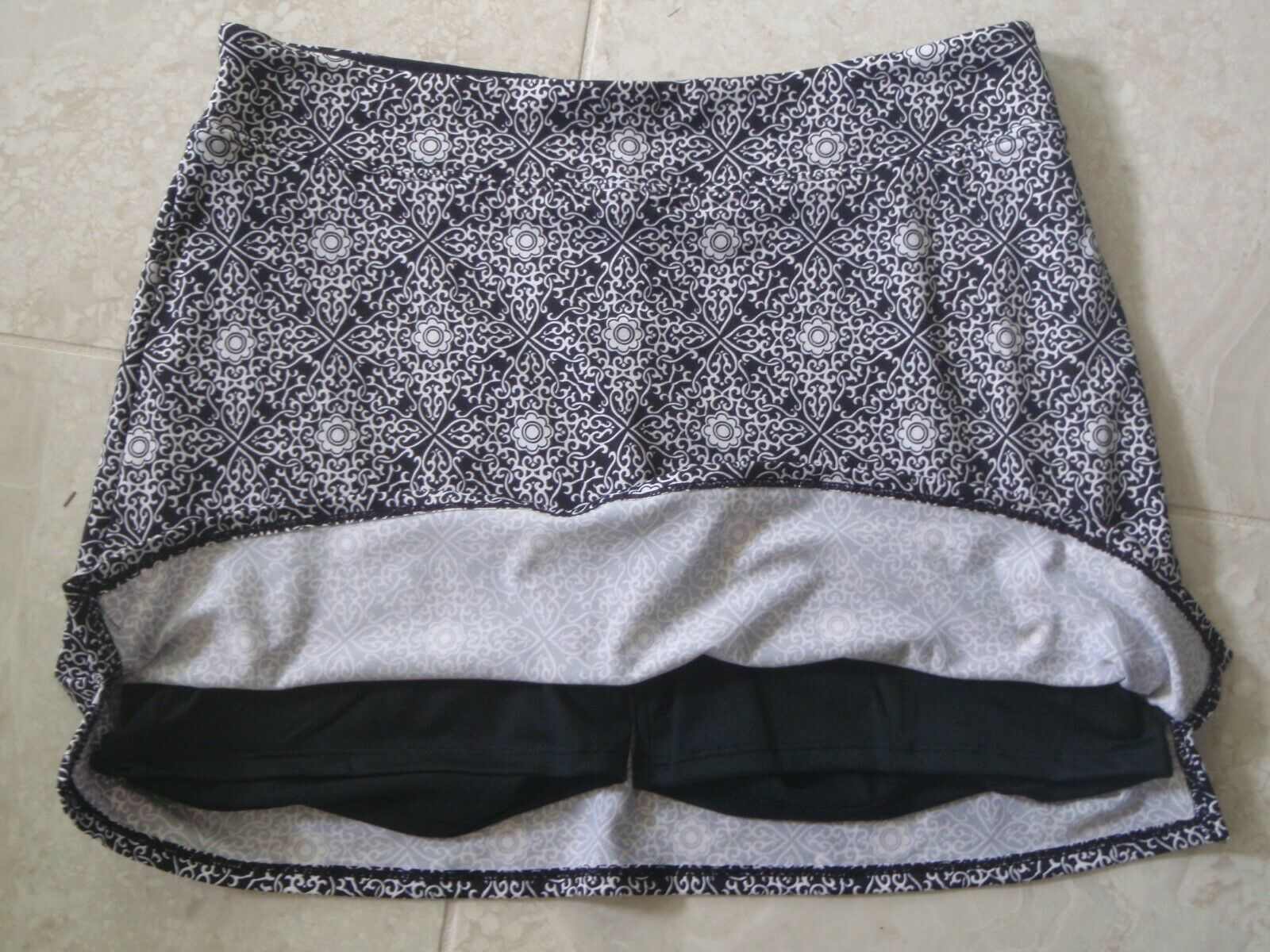 TRANQUILITY COLORADO CLOTHING YOGA GOLF SKORT SKIRT NEW MAGNIFICENT BLACK MEDIUM