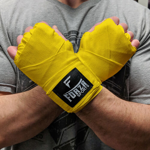"Yellow Forza Sports 180/"" Mexican Style Boxing and MMA Handwraps"