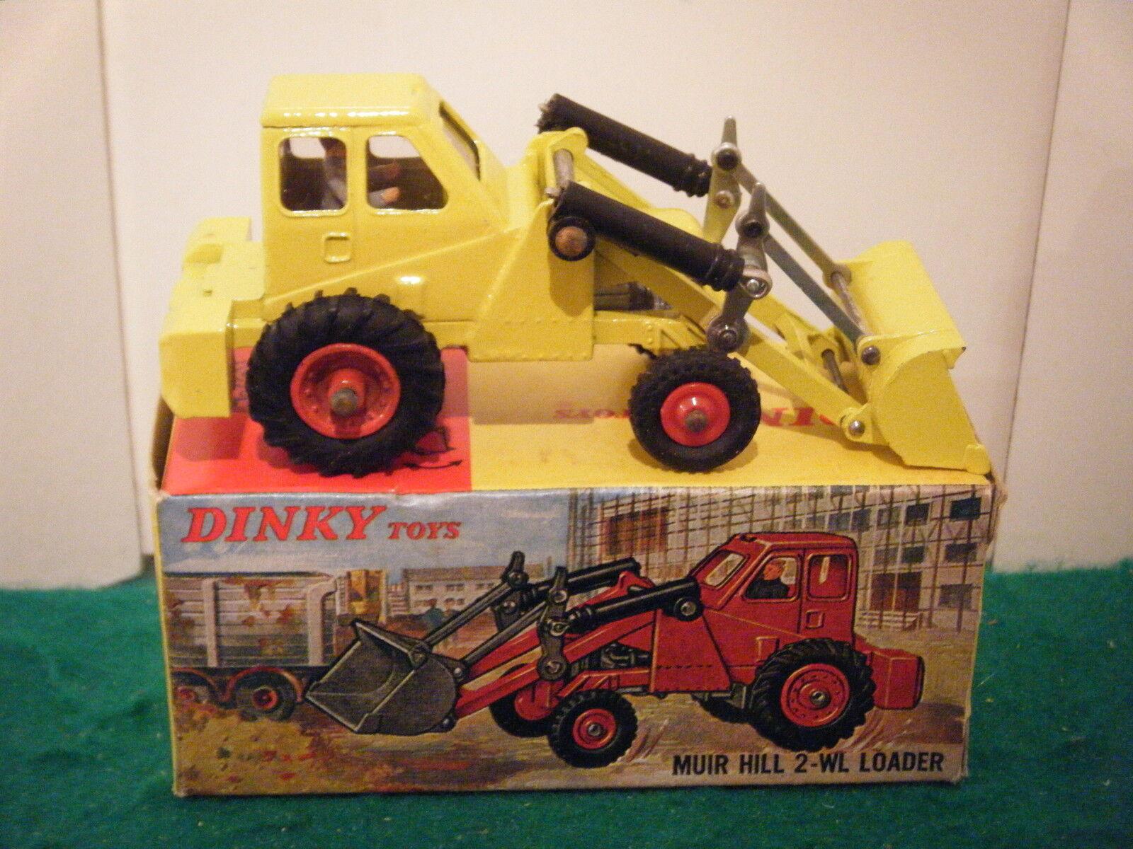 Dinky no  437  Muir Hill 2-wl Cochegador  - Amarillo (Original 1960   imagen Caja)