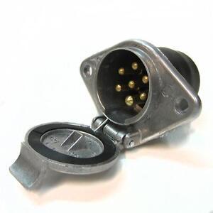 steckdose metall 7 polig 24 v anh nger lkw kupplung kabel beleuchtung ebay. Black Bedroom Furniture Sets. Home Design Ideas