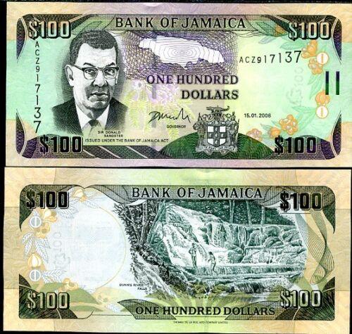 JAMAICA 100 DOLLARS 2006 P 84 UNC