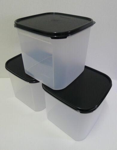 Tupperware Modular Mates SQUARE III : 4.0L Free Shipping Black//Red Set of 3
