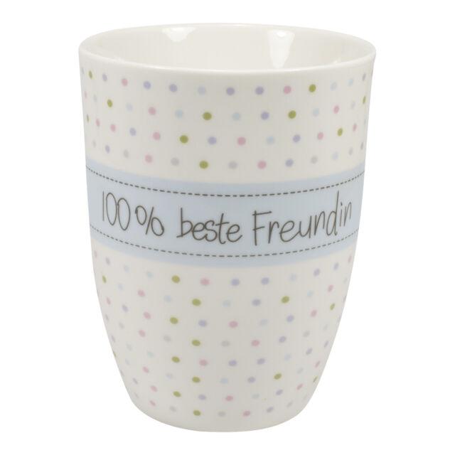 Mea Living, 100 % beste Freundin, Kaffee Tasse Becher mit Henkel Porzellan
