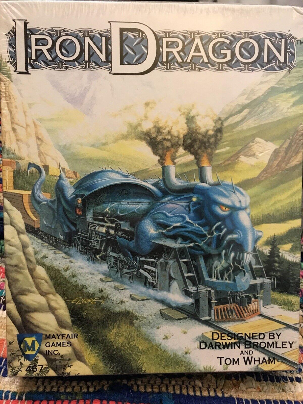 Très Rare  Neuf sous emballage    Iron Dragon Fantasy Board jeu Mayfair 1st Edition