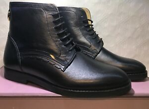 Bnib Flat Prism Black Pixie Up Size 6 H By Leather Lack Hudson Ankle Boots Real aPn75qxw