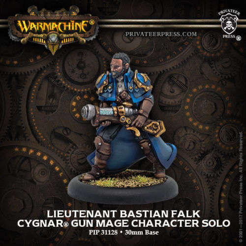 Warmachine Cygnar Lieutenant Bastian Falk PIP 31128