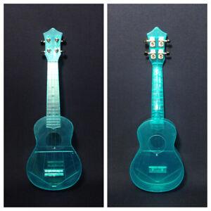 "21"" Fuykan Clear Blue Soprano Ukulele,See-Thru,Light-Weight w/Bag,Pick |UK11 BL|"