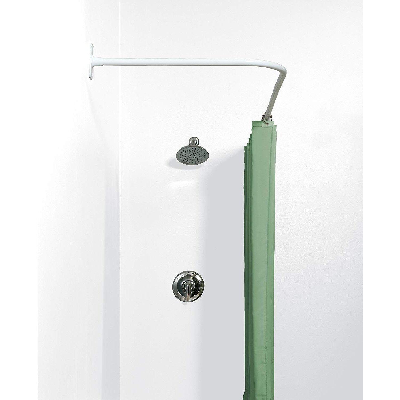 L Shaped Shower Curtain Rod Corner Neverrust Aluminum Bathroom Bath Tub