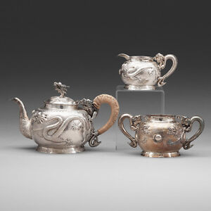 Antiques Capable 960 Grams Antique Chinese Export Sterling Silver Tea Pot Teapot Or Coffee Set Wide Varieties Silver