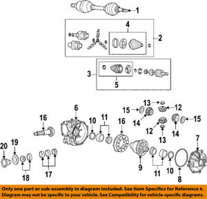 GM OEM Front Differential-Pinion Yoke Companion Flange 88967027