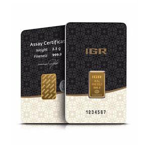 2,5 Gramm Goldbarren IGR Gold 999,9 im Blister - 5 Euro Rabatt ab 3 Stück