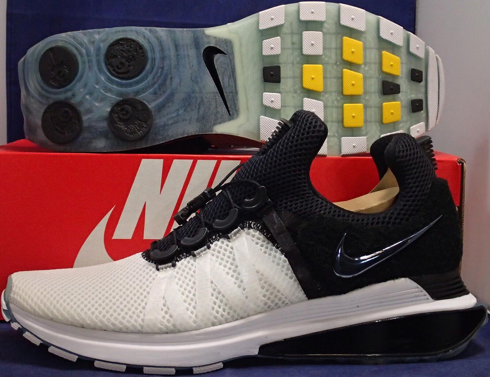 Nike Shox Gravity Weiß Schwarz Sz 11.5 (AR1999-101)