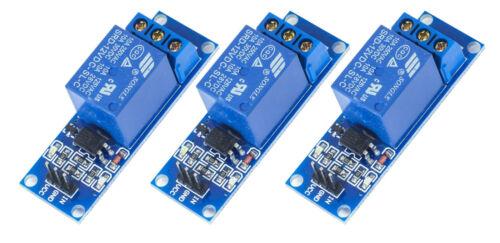 3Stück 1-Kanal Relais Relay Modul 12V blau für Arduino Raspberry Pi PIC