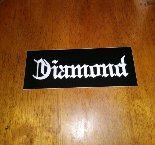 DIAMOND SKATE SUPPLY CO.THE OLD ENGLISH DIAMOND LOGO #2 STRIP SKATEBOARD STICKER