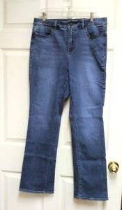 TALBOTS-Heritage-Boot-Cut-Denim-Stretch-Blue-Jeans-Women-039-s-Size-12