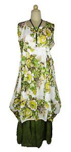 LAGENLOOK COTTON OVERSIZED BEAUTIFUL MAXI LONG DRESS SIZE 18 20 22 24 26