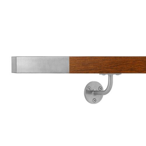 Quercia Dorata Corrimano scala acciaio inox 0,5-6m imitazione legno ringhiera
