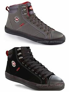 Mens Womens Lee Cooper Steel Toe Safety Baseball Boots High Top ... f3c1967ce