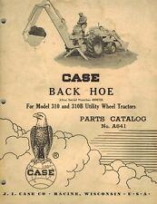 Case Vintage Backhoe Parts Catalog Manual For 310 310b Wheel Tractors A641
