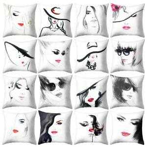 Am-Women-Portrait-Pillow-Case-Cushion-Cover-Sofa-Bed-Car-Cafe-Office-Decor-Myst
