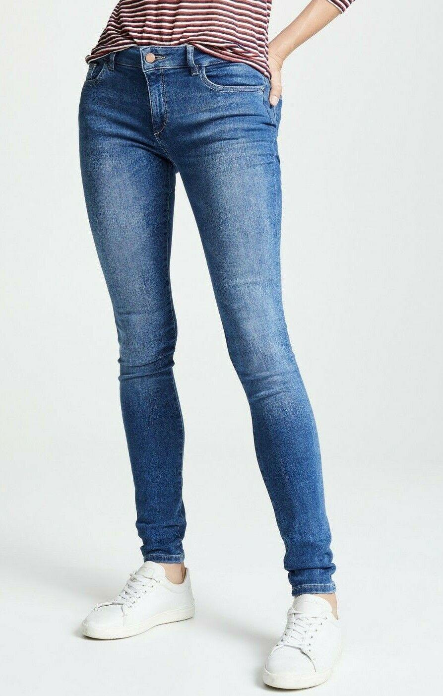 Nuova con Etichetta Dl1961 Sz26 Danny Midrise Instasculpt Jeans Attillati