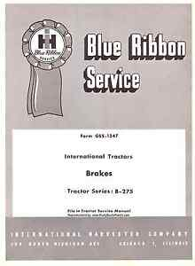 Details about IH International Harvester B-275 kes Service manual on