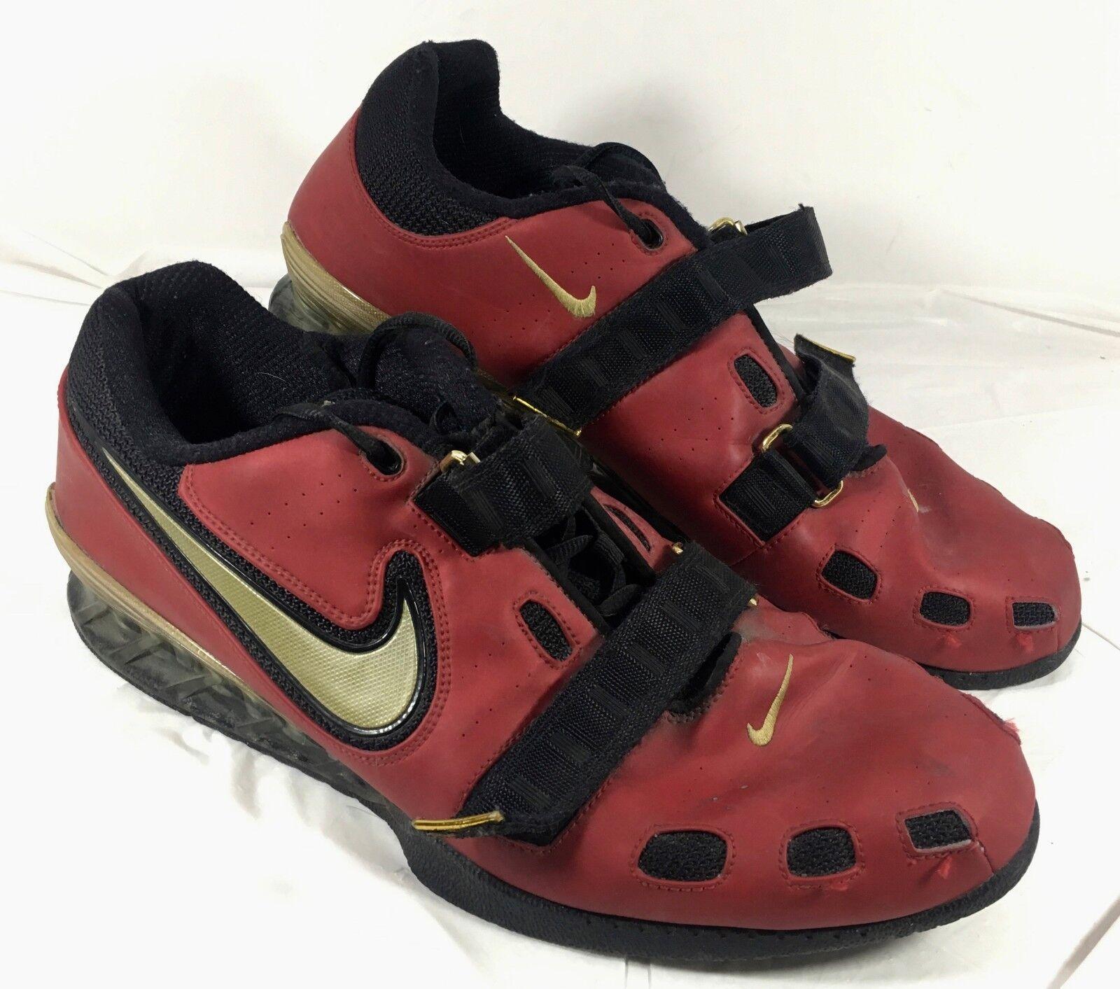 Le scarpe di pelle rossa per il sollevamento pesi romaleos 2 sz 15