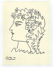 """Pablo Picasso - Color Drawing """"PROFILE OF A WOMAN"""""""