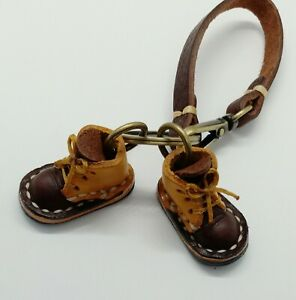 Mini-Boots-Brow-Genuine-leather-Key-Chain-Shoes-Idea-Handcraft-Bag-Backpack-gift