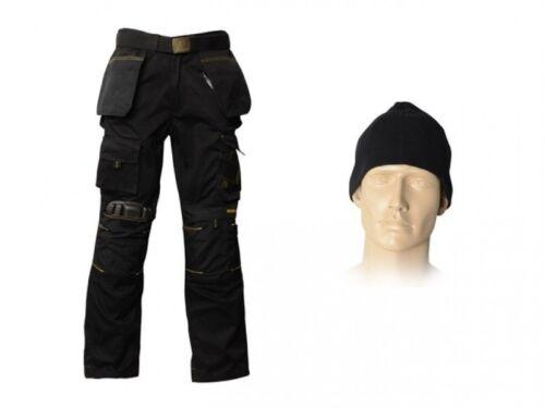 Roughneck rnkmzt Negro Multi Cremallera Trabajo Pantalón Varios Tamaños