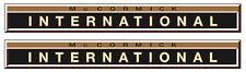 2x IHC  Aufkleber international GOLD 423 Logo Emblem Sticker Label